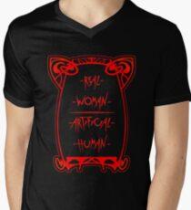 Real Woman - Artificial Human Men's V-Neck T-Shirt