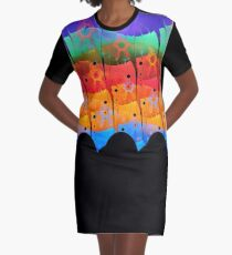 DA FS Alien Skin Layers ONFX© Graphic T-Shirt Dress