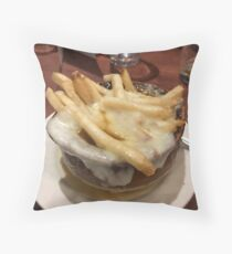 French (Fry) Onion Soup! Throw Pillow