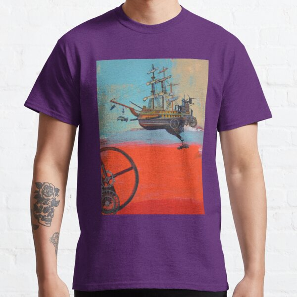 Illustration for SciPhi Journal issue #5 'HMS Mangled treasure' Classic T-Shirt