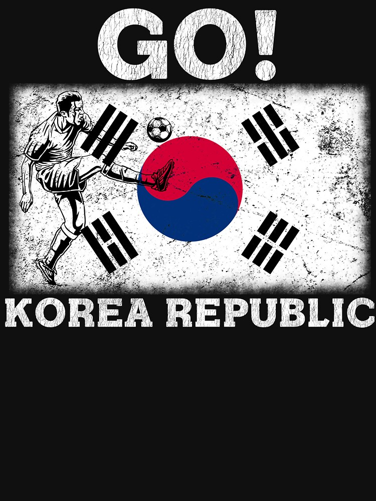 World Cup Russia 2018 Vintage Korea Republic Flag Football Soccer by jonawillian