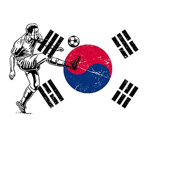 World Cup Russia 2018 Vintage Korea Republic Flag Football Soccer by jonawillian