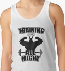 Training to be like All Might Men's Tank Top