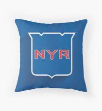 New York Rangers Minimalist Print Throw Pillow
