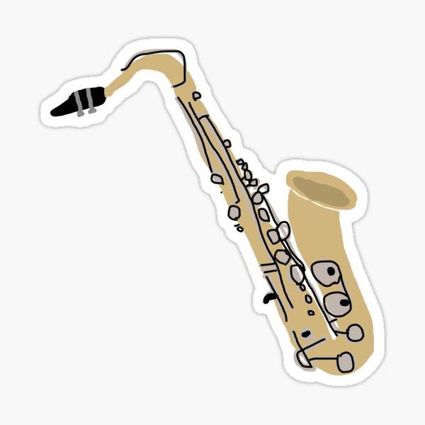 Tenor Saxophone Jazz Band Blues Sticker