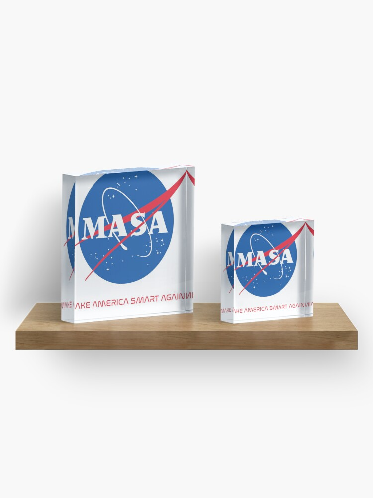 Alternate view of Make America Smart Again - Nasa X Masa Acrylic Block