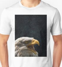 Simple Eagle in Space 2 Unisex T-Shirt