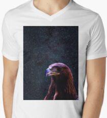 Simple Eagle in Space 3 Men's V-Neck T-Shirt