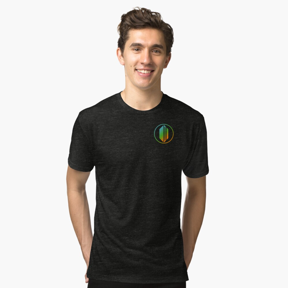 Combo Badge Colour Tri-blend T-Shirt Front