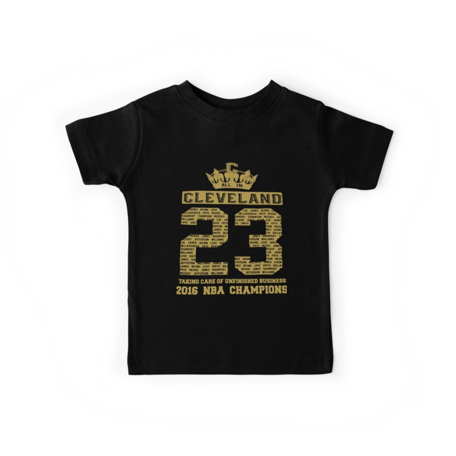 0dd762579fb 2016 Nba Champions Cleveland Cavaliers Team Jersey Lebron James 23 Cavs  Basketball T-Shirts by
