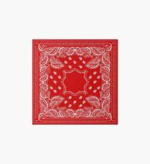 Bandana in Red & White  Art Board