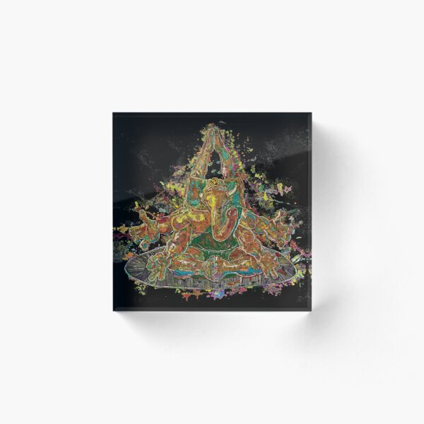 Ganesha Acrylic Block