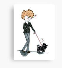 Remus walking Pafloof Canvas Print
