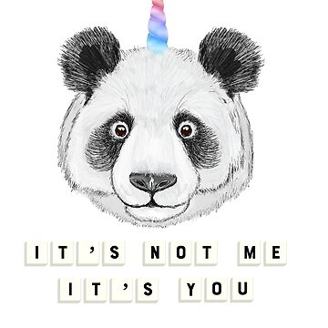 Funny Panda bear Tshirt with saying, Cute Pandacorn Bear  Unicorn by SABRA11