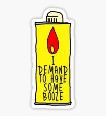 Withnail & I Lighter Fluid Sticker