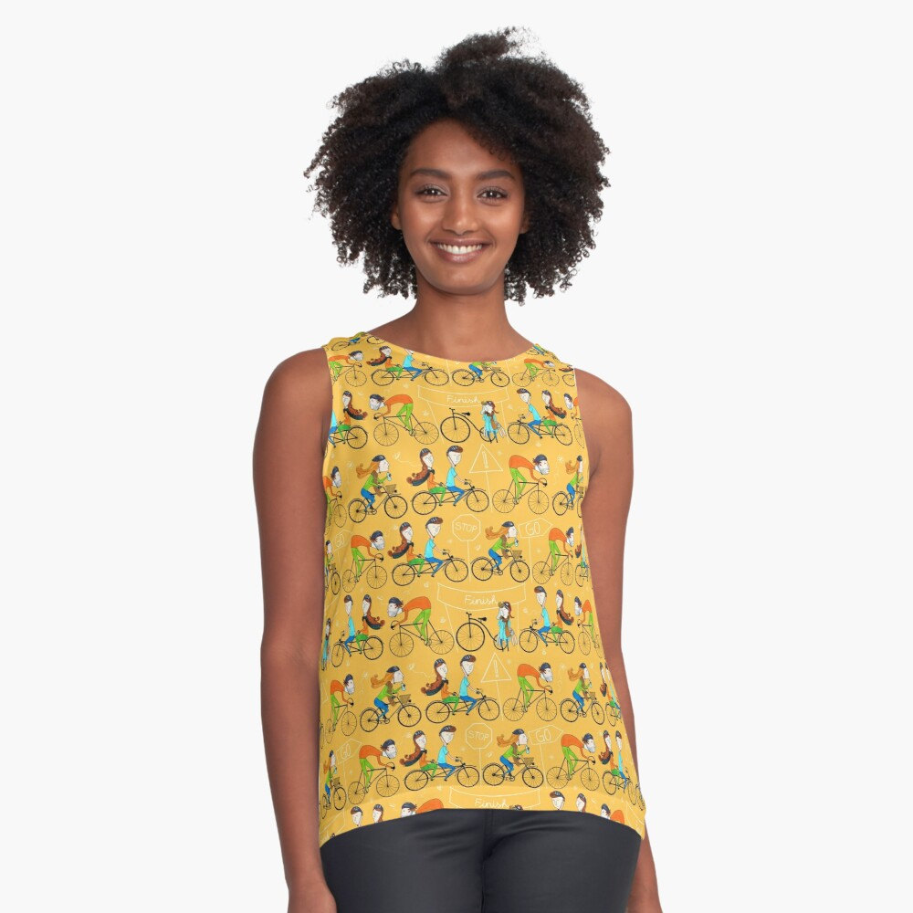 Pattern 81 - I love cycling!  Contrast Tank Front