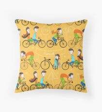 Pattern 81 - I love cycling!  Throw Pillow