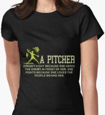 a pitcher baseball t-shirts Women's Fitted T-Shirt