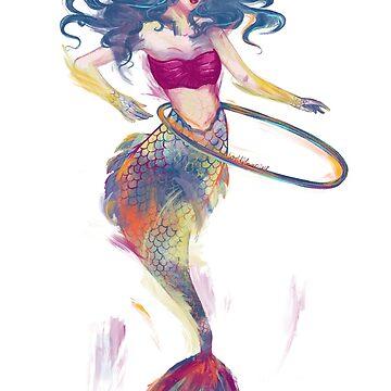 When Mermaids Play by Wildflower-Art