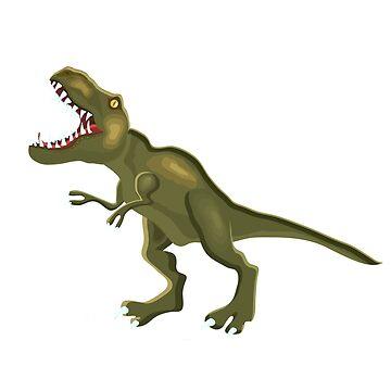 Illustration of a Tyrannosaur.  by TrishaMcmillan