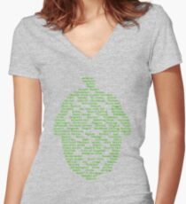 Hop Varieties of The World Women's Fitted V-Neck T-Shirt