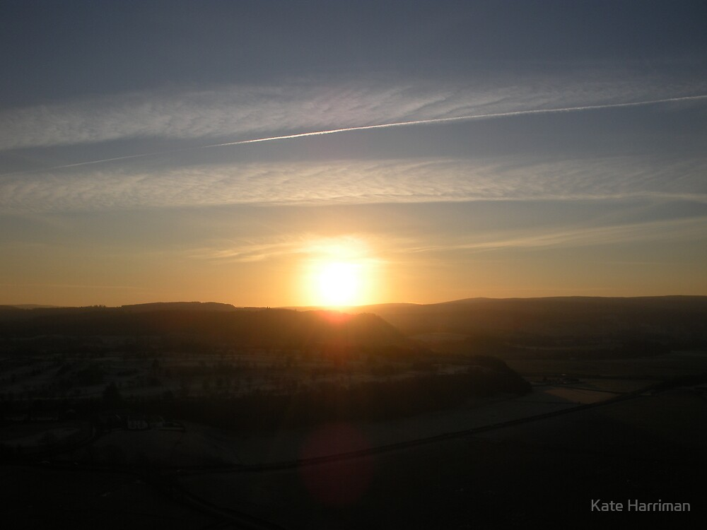 Sunset from Stirling Castle, Scotland by Kate Harriman