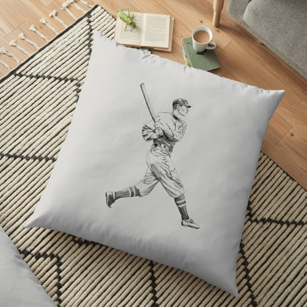 Baseball retro style Floor Pillow