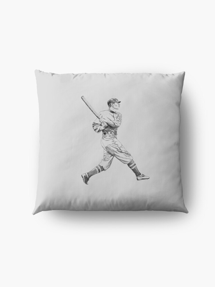 Alternate view of Baseball retro style Floor Pillow