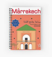 Marrakech Morocco Maghreb Islam vintage decoration design Spiral Notebook