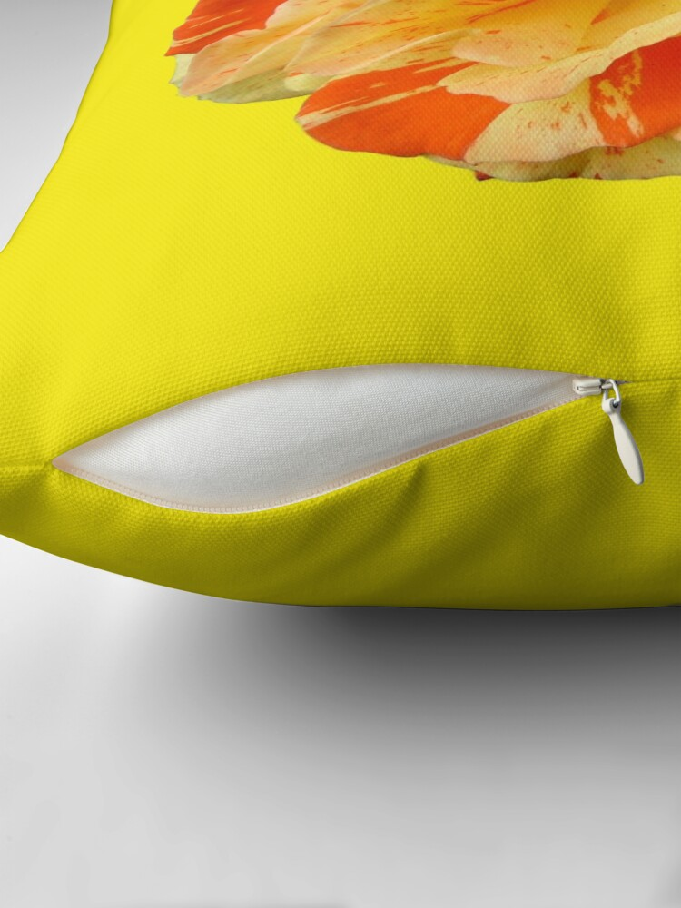 Alternate view of Oranges and Lemons - Yellow is my Happy Colour Throw Pillow