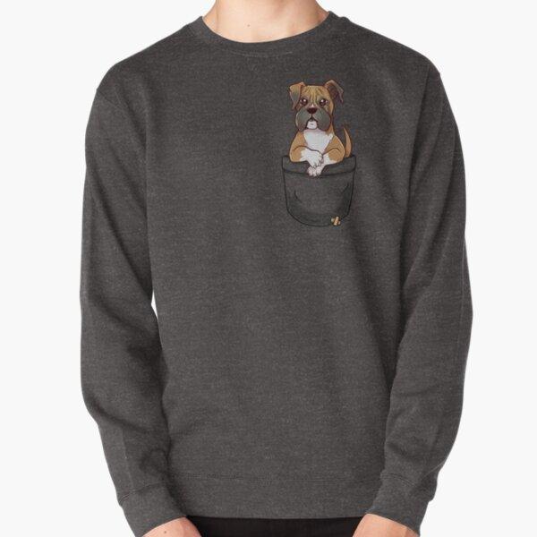 Pocket Cute Boxer Dog Pullover Sweatshirt