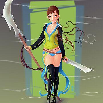 Blade Girl 5 by Dillerkind
