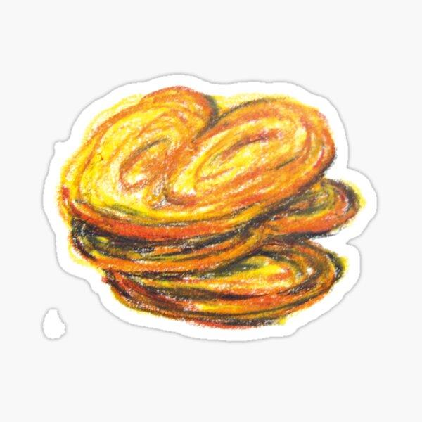 Biscuit palmier dessin Sticker
