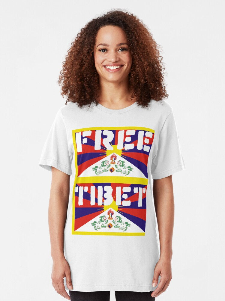Alternate view of Free Tibet Slim Fit T-Shirt