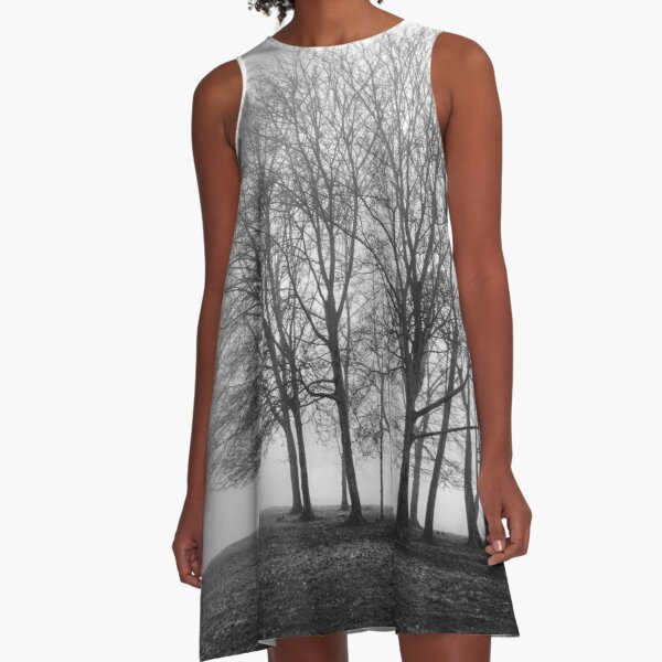 Silence in the grove A-Line Dress