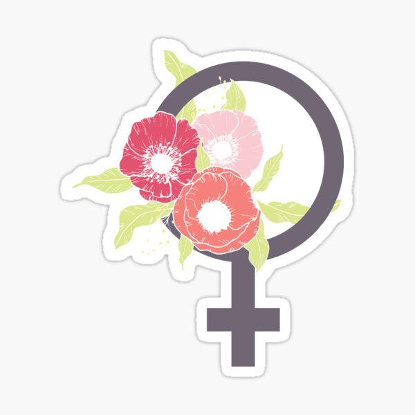 Female #redbubble #buyart Sticker
