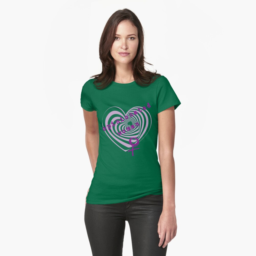 Opinionated Woman Fitted T-Shirt