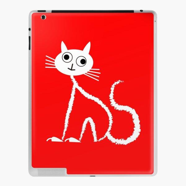 WEISSE KATZE MIT GROSSEN AUGEN iPad Klebefolie