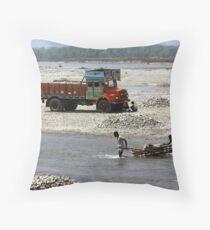 Manas River, Assam, India Throw Pillow