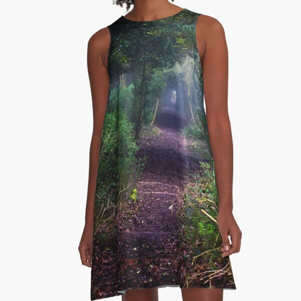 Avenue of Yew A-Line Dress