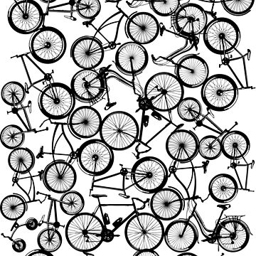 Pile of Black Bicycles by zomboy
