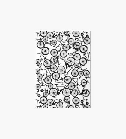 Pile of Black Bicycles Art Board