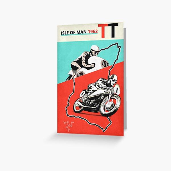 Vintage Isle of Man TT Greeting Card
