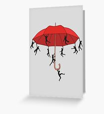 Umbrella Mayhem Greeting Card