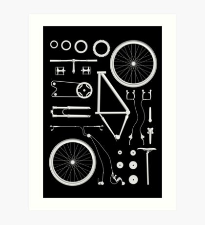 Bike Exploded Art Print