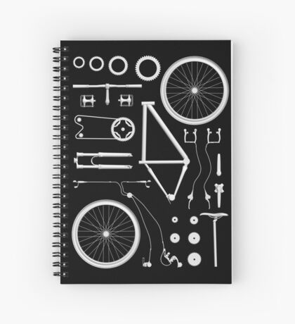 Bike Exploded Spiral Notebook