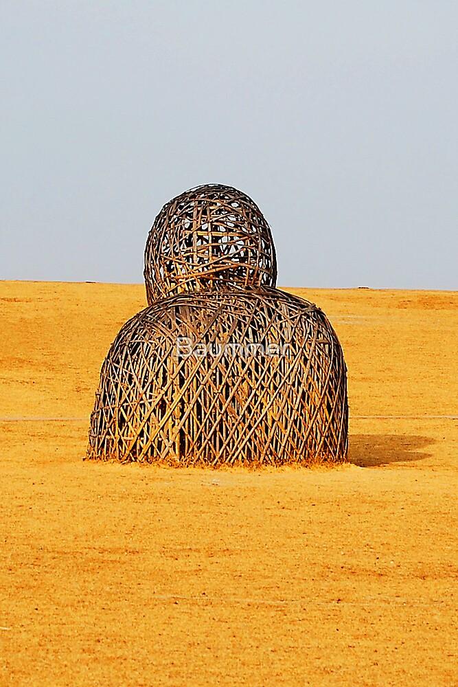 Sad sculpture by Baummer