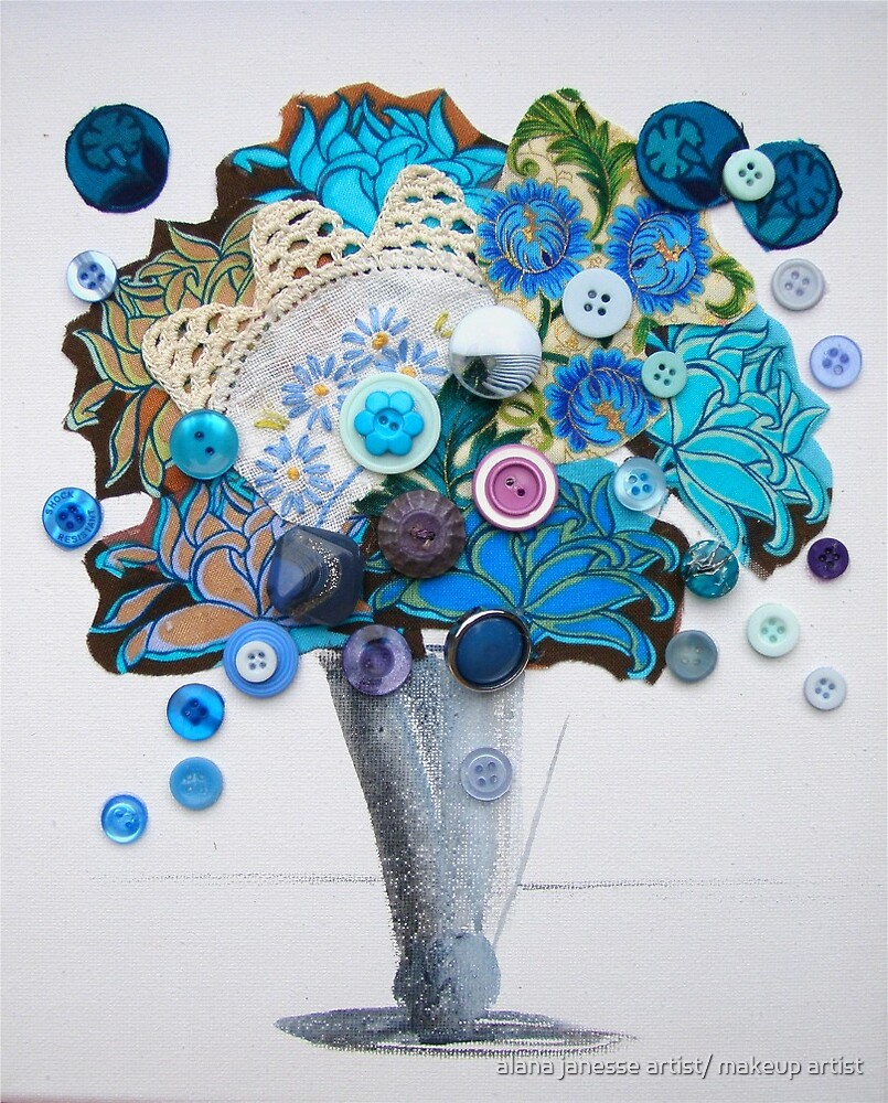 blue floral by alana janesse artist/ makeup artist