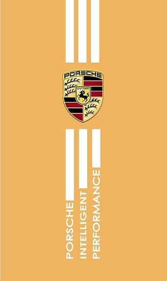 Porsche Logo Gold Metal Posters By Murrayhenr Redbubble