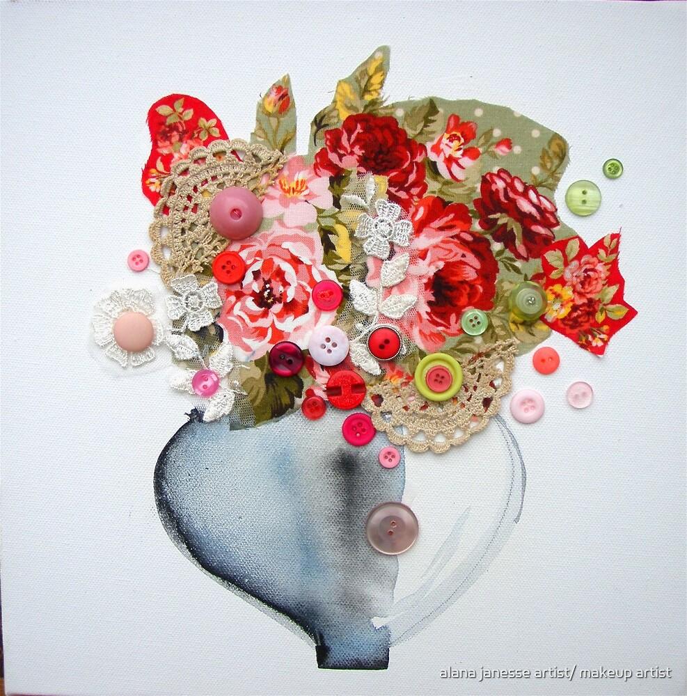 vintage floral by alana janesse artist/ makeup artist